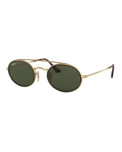 Oval Metal Sunglasses