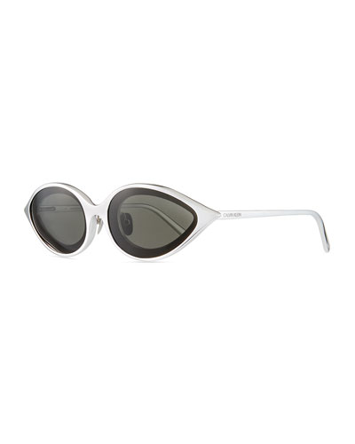 Aluminum Oval Sunglasses