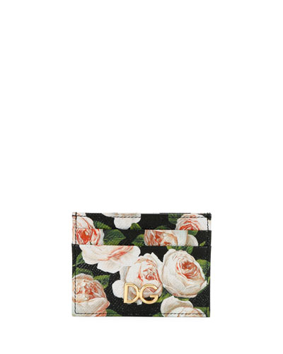St. Dauphine Rose-Print Card Case