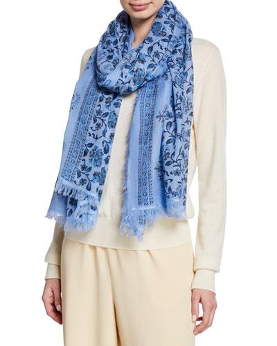 Samara Floral Wool Scarf