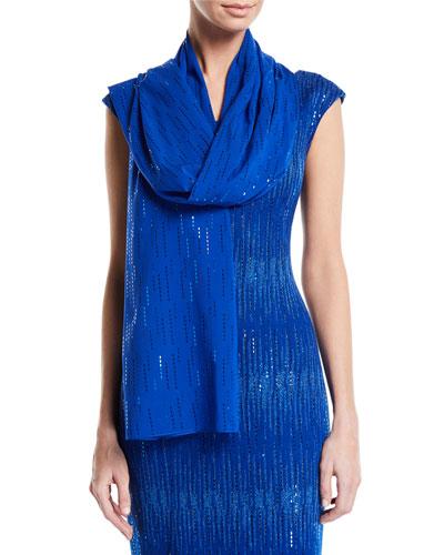Georgette Silk Sequined Wrap
