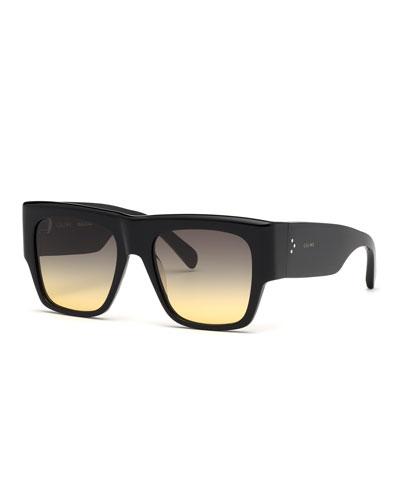 Square Chunky Gradient Sunglasses
