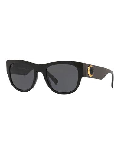 Medusa Head & Greek Key Square Sunglasses