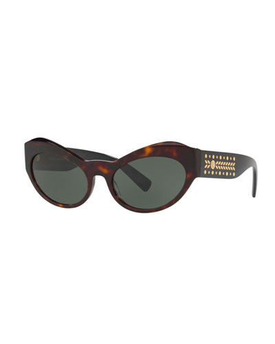 Studded Acetate Butterfly Sunglasses