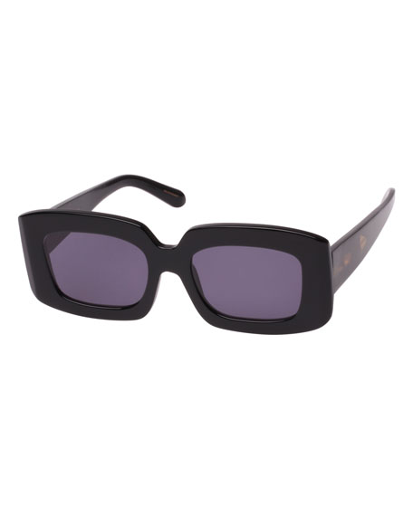 Karen Walker Loveville Rectangle Acetate Sunglasses