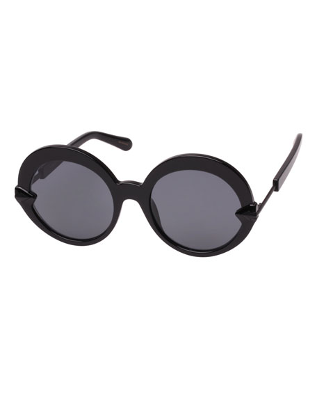 Karen Walker ROMANCER ROUND ACETATE SUNGLASSES
