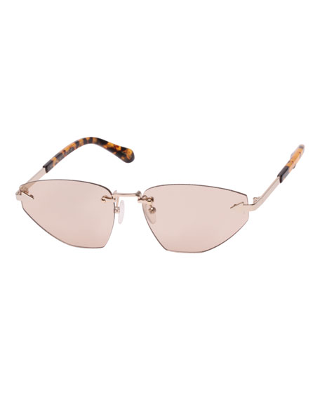 Karen Walker HEARTACHE RIMLESS CAT-EYE SUNGLASSES