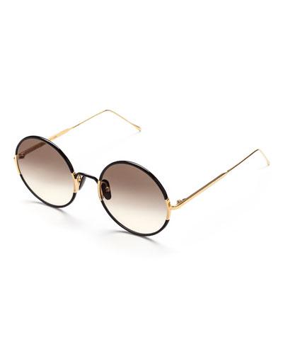Yetti Round Acetate & Titanium Sunglasses