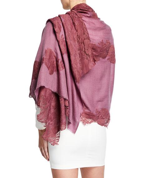 Bindya Accessories Lace Applique Shawl
