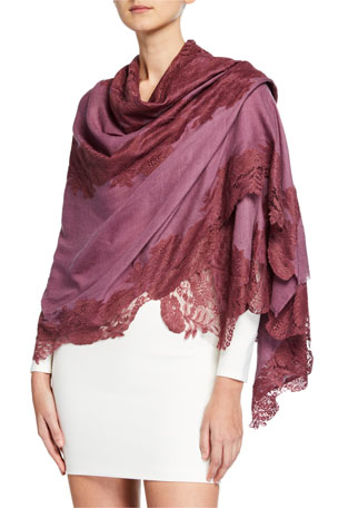 Bindya Accessories Lace Applique Shawl
