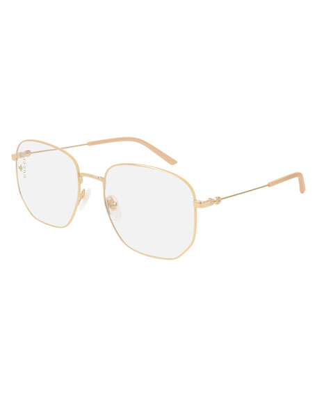 04a3d78eb88 Gucci 56Mm Antireflective Sunglasses - Gold  Solid Nude W  Clear ...