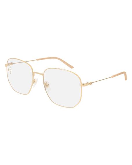 Square Metal Glasses in Gold