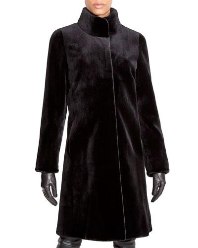 Sheared Mink Fur Stroller Coat