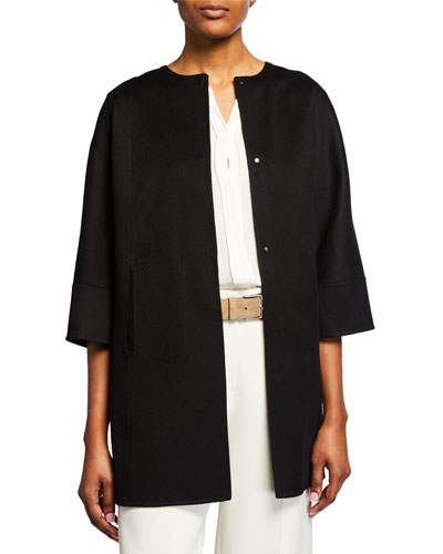 Cashmere 3/4-Sleeve Cape