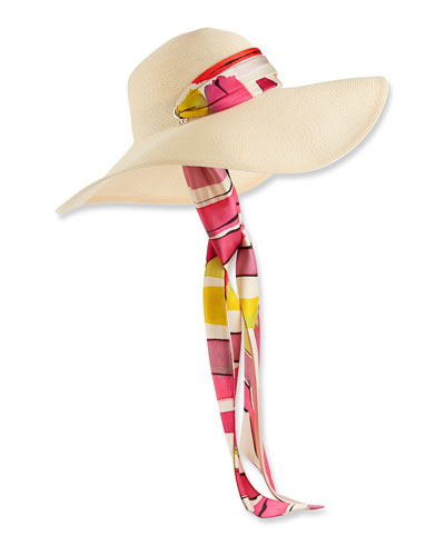 Bunny Floppy Sun Hat w/ Pull-Though Scarf