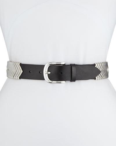 Tehora U-Buckle Leather Belt