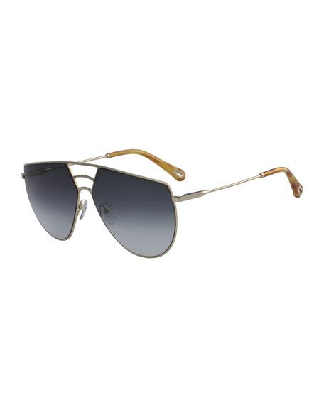 Chloe Ricky Triple Bridge Aviator Sunglasses