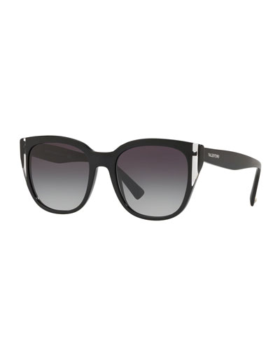 Colorblock Acetate Square Sunglasses