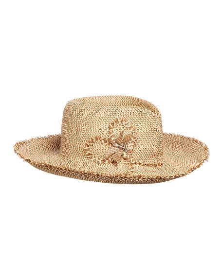 Dragonfly Woven Sun Hat in Peanut