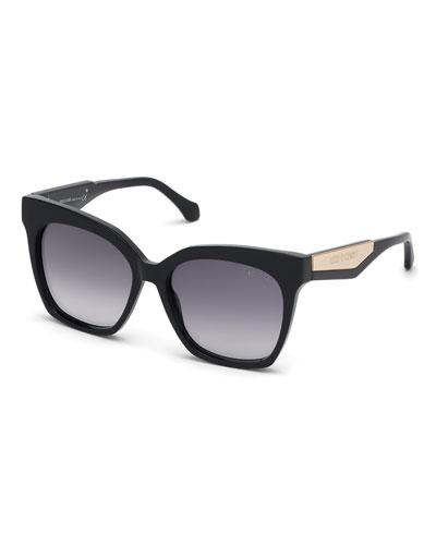 Gradient Rectangle Acetate Sunglasses