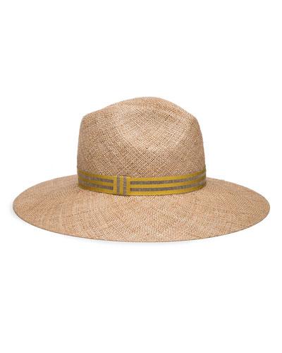 Emmanuelle Natural Straw Fedora Hat