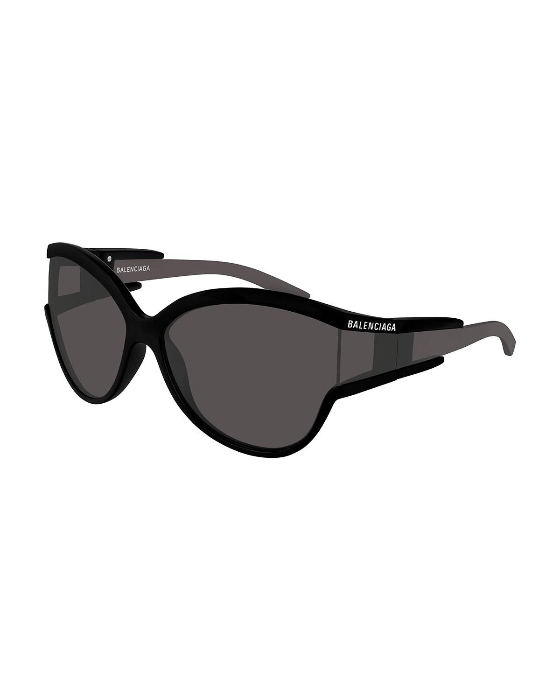 ab69117e30 Balenciaga Soft Mask Monochromatic Wrap Cat-Eye Sunglasses