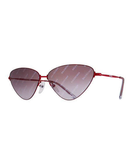 Balenciaga Slim Metal Cat-Eye Sunglasses