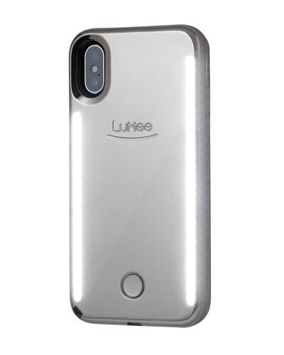 iPhone X Duo Photo-Lighting Case  Silver Mirror