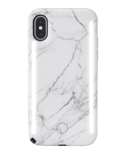 iPhone XS Max Duo Photo-Lighting Case, White Marble