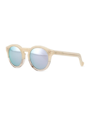 c787c73aeb0 Illesteva Leonard Round Half   Half Sunglasses