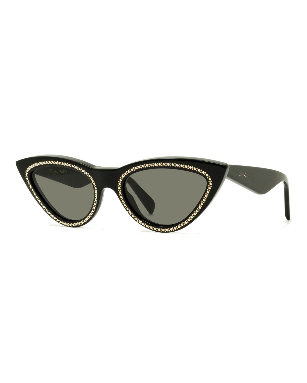 3852a1cecd Celine Studded Cat-Eye Acetate Sunglasses