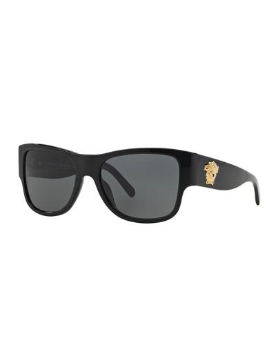 Square Monochromatic Acetate Sunglasses