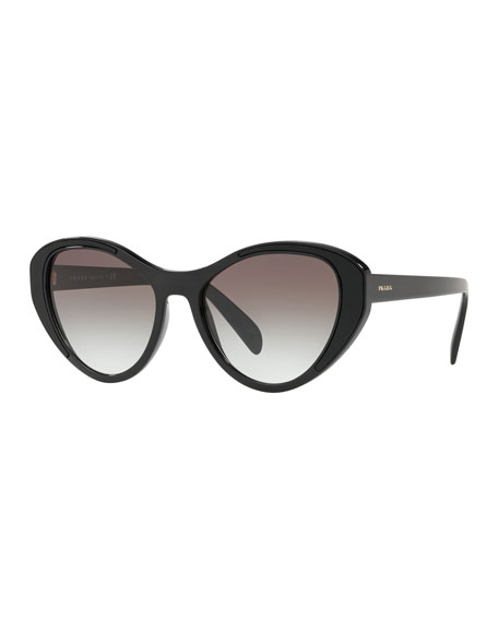 d83e9ab1d5f6 Prada Women S Cat Eye Sunglasses