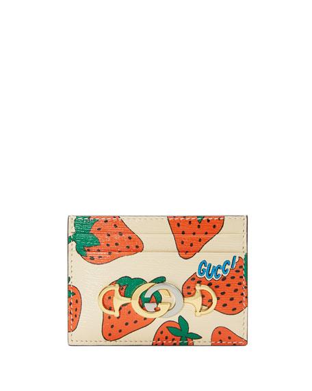 Gucci Bags ZUMI TASTY STRAWBERRY CARD CASE
