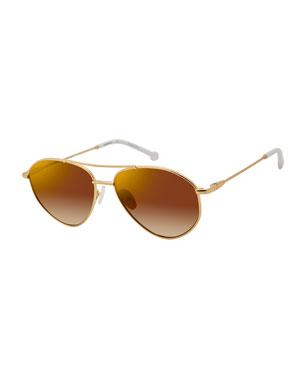 9df9db308aa6f Colors In Optics Breezy Metal Mirrored Sunglasses