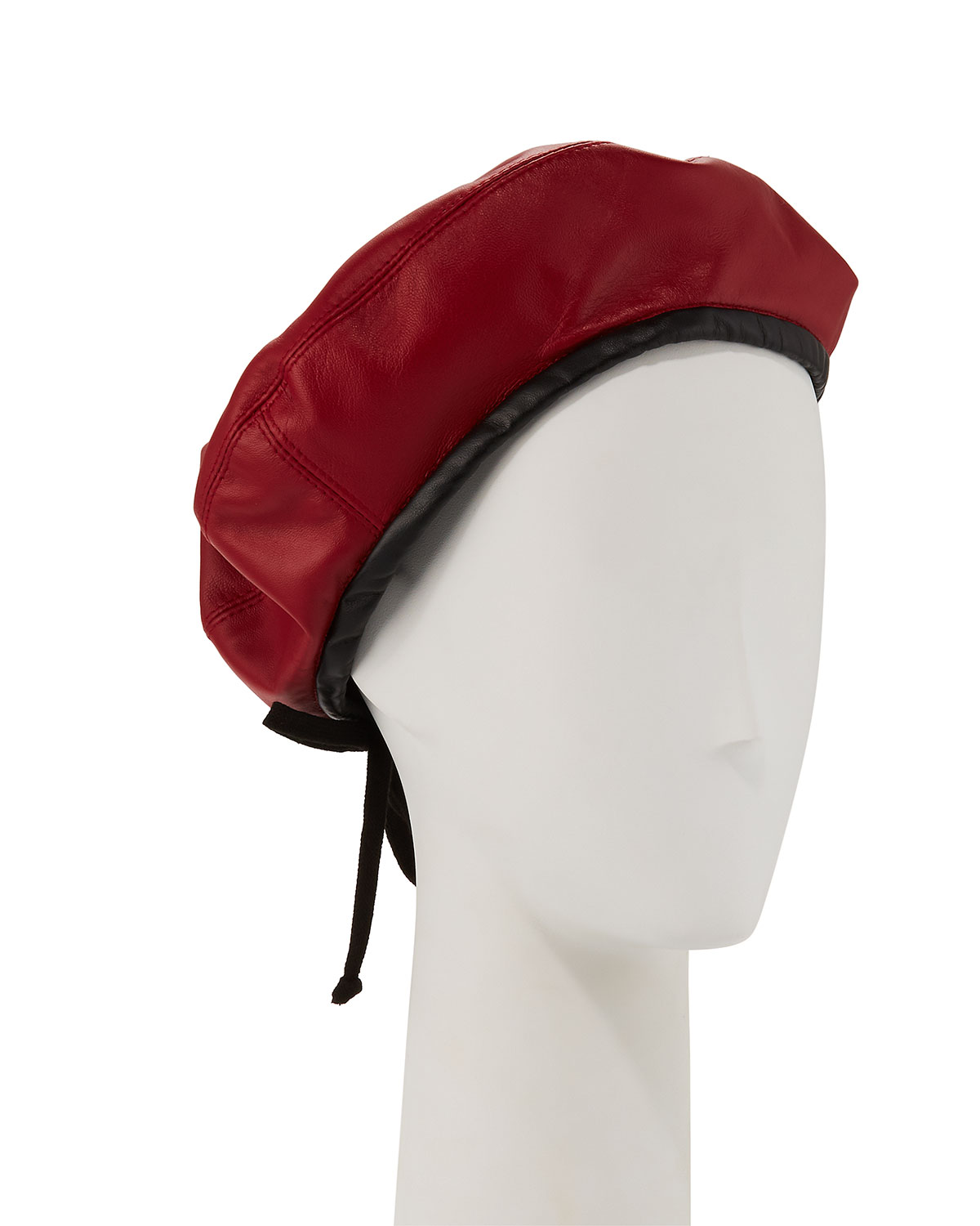 Eric Javits Kate Two-Tone Leather Beret  1d3016a3429