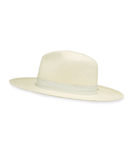 Janessa Leone Hats AISLEY PANAMA STRAW FEDORA HAT