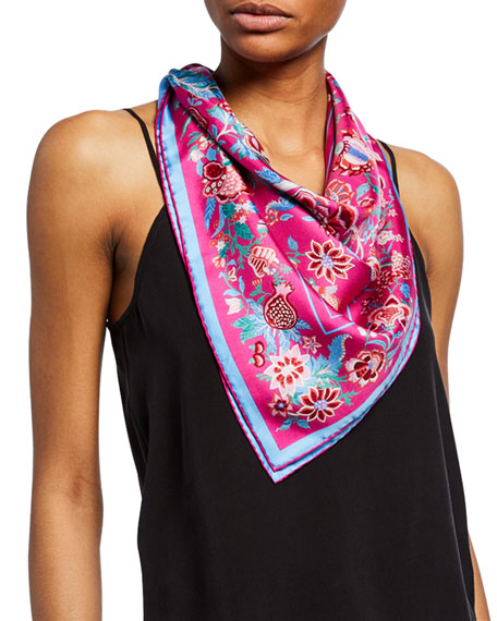 Liberty London Accessories TREE OF LIFE PRINTED SILK SCARF