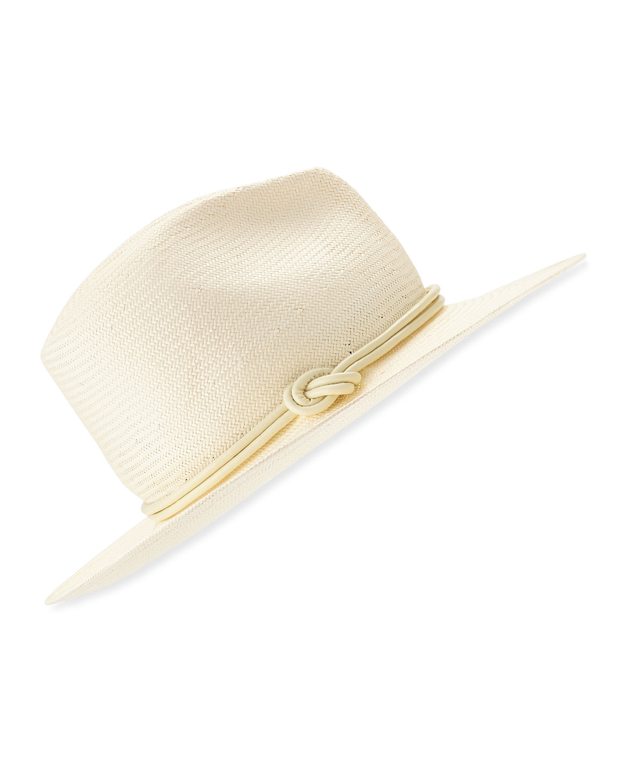 Tracy Watts Cap Cana Straw Fedora Hat  71f854dd3f9