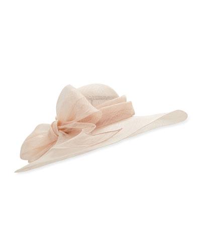 Capelina Sisal Hat w/ Bow
