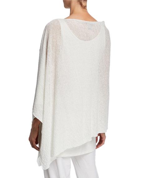 Eileen Fisher Plus Size Organic Linen Crepe Poncho