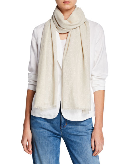Eileen Fisher Accessories GLIMMER STRIPE COTTON WRAP