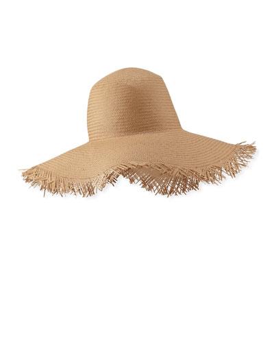 Brigitte Frayed Edge Sun Hat