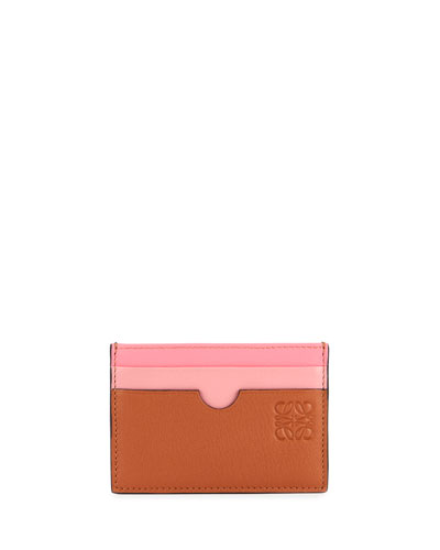 Rainbow Plain Leather Card Case