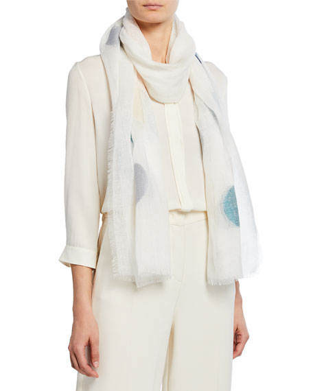 Loro Piana Accessories THE VOICE OF THE WINDS GAUZE DOT SCARF