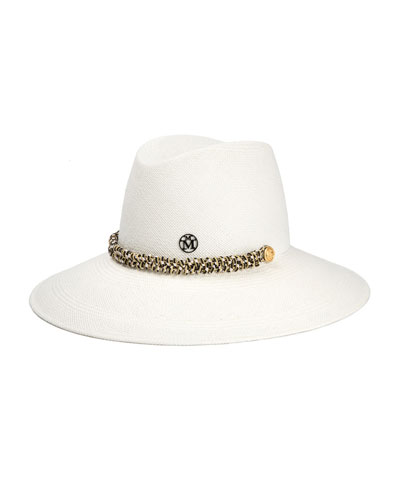 Kate Fedora Hat w/ Multicolored Trim