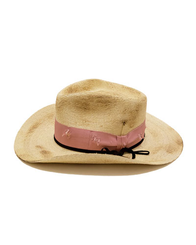 Distressed Straw Cowboy Hat