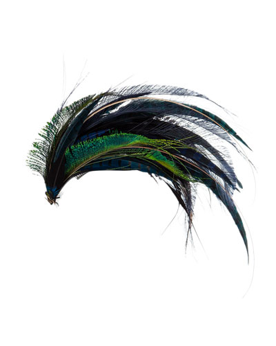 Mixed Feather Wave Cocktail Hat