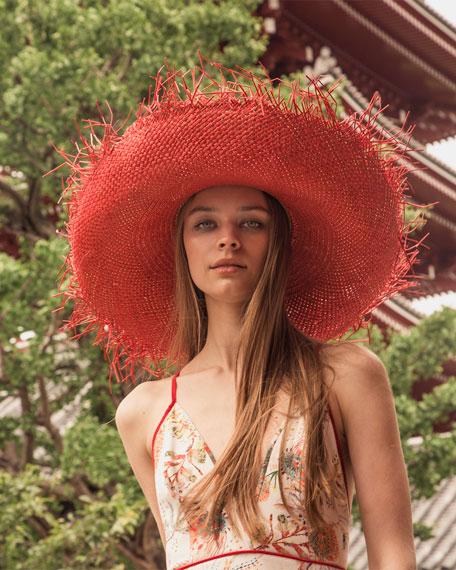 Sensi Studio Hippie Extra Frayed Brim Hat