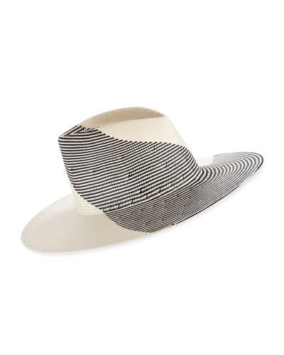 Harlowe Two-Tone Graphic Fedora Hat